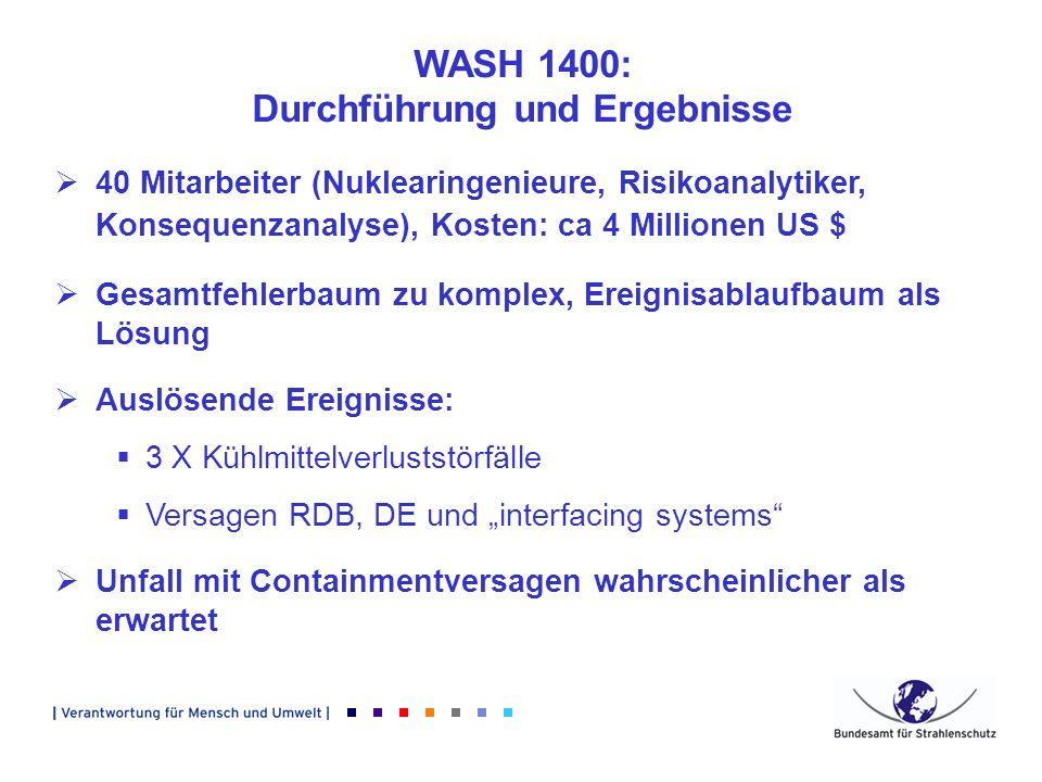 WASH 1400: Durchführung und Ergebnisse