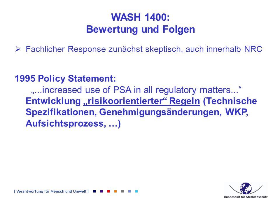 WASH 1400: Bewertung und Folgen