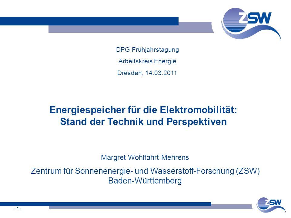 Energiespeicher für die Elektromobilität: