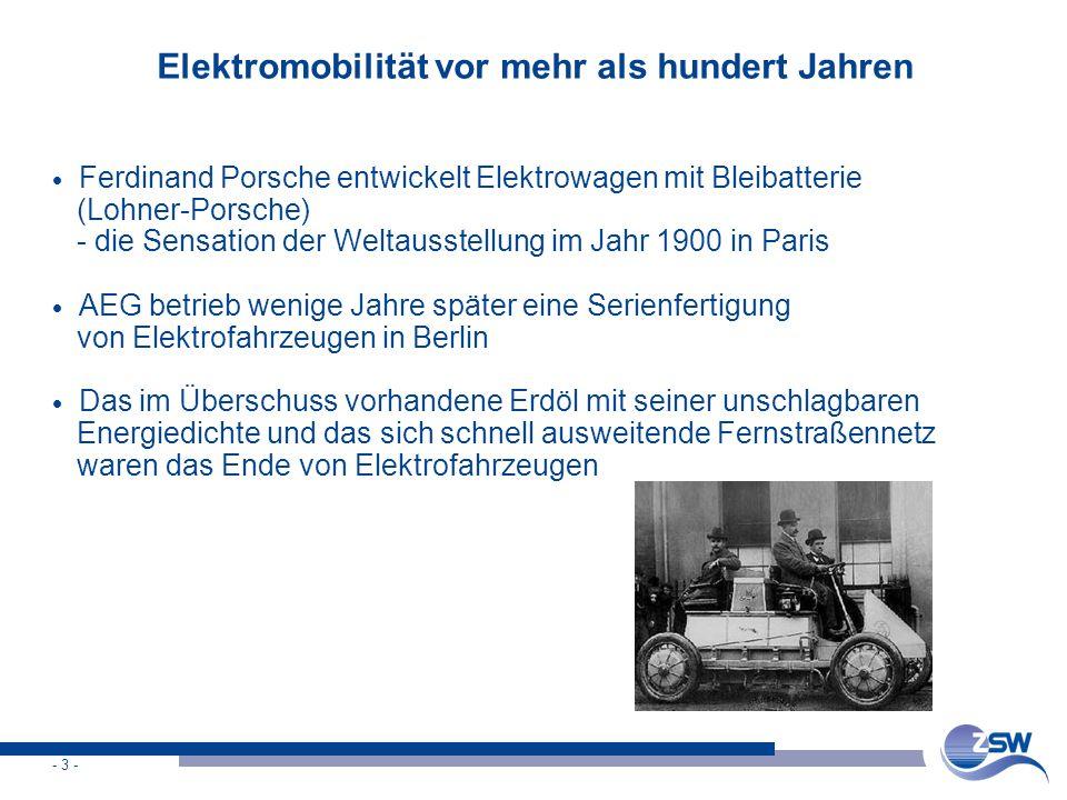 Elektromobilität vor mehr als hundert Jahren