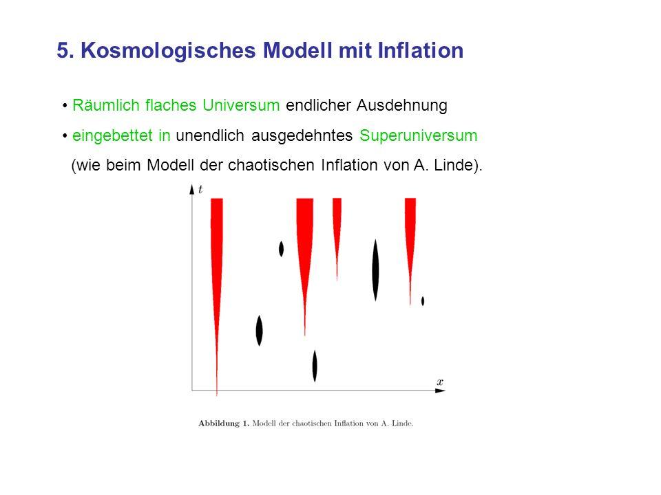 5. Kosmologisches Modell mit Inflation
