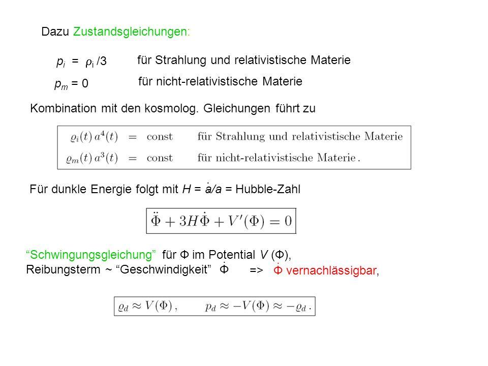 Dazu Zustandsgleichungen: