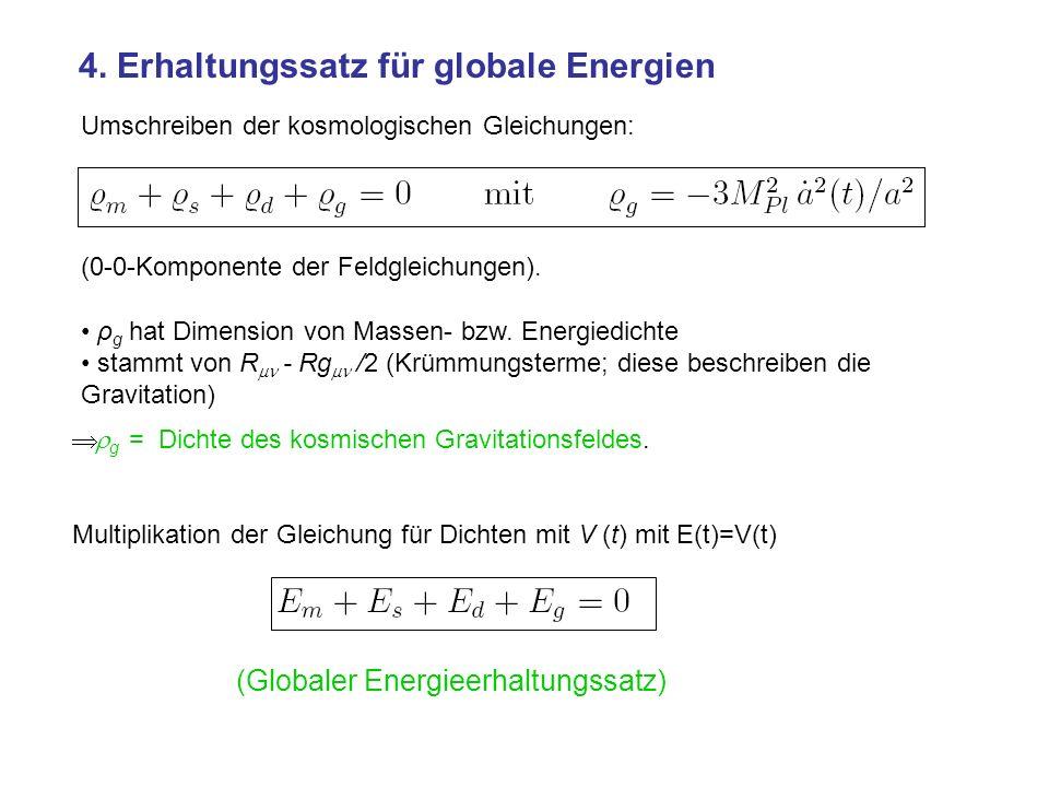 4. Erhaltungssatz für globale Energien