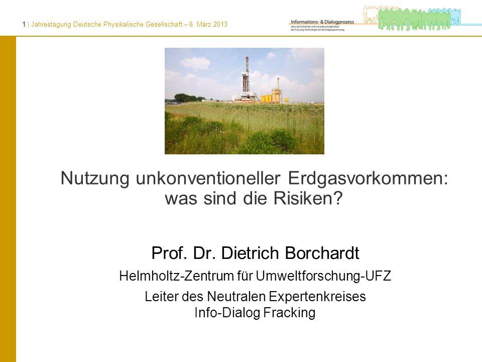 Nutzung unkonventioneller Erdgasvorkommen: was sind die Risiken
