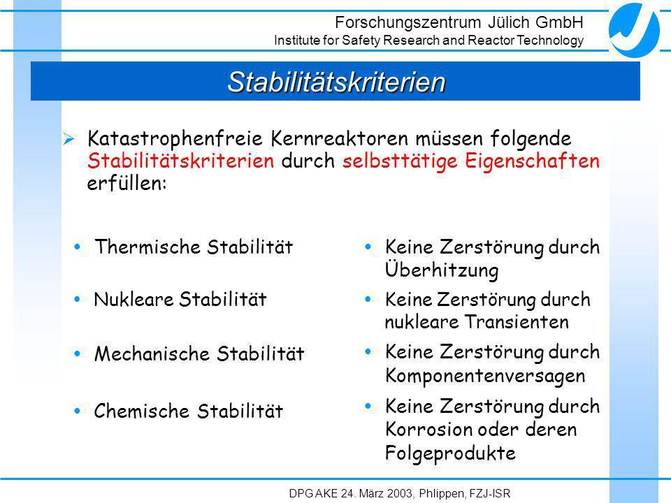 Stabilitätskriterien