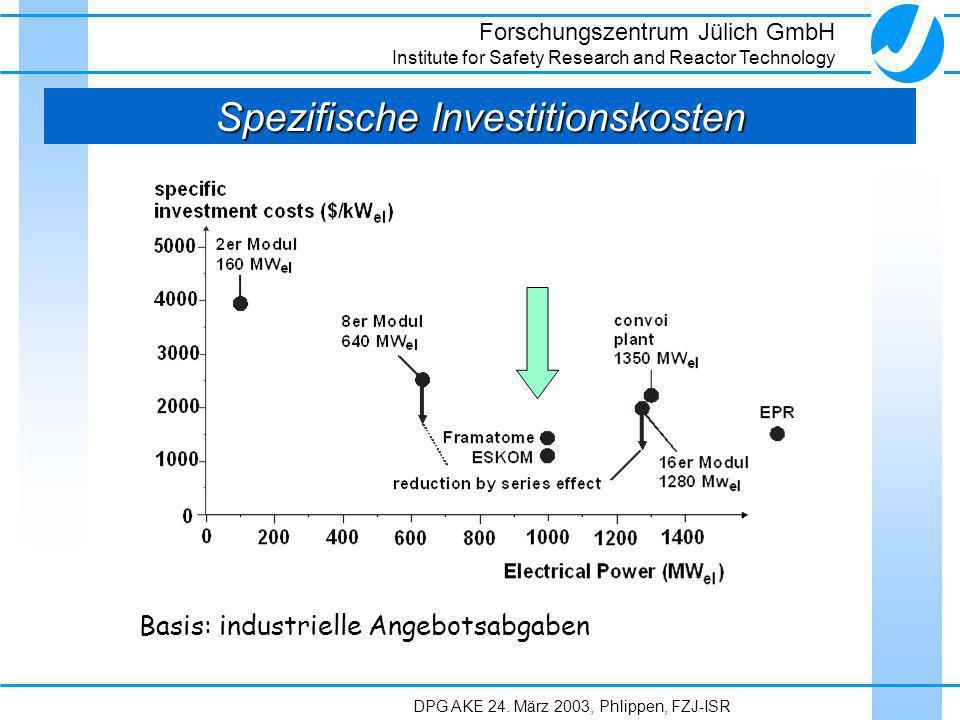 Spezifische Investitionskosten