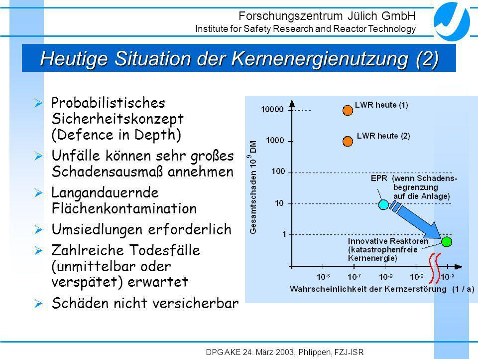 Heutige Situation der Kernenergienutzung (2)