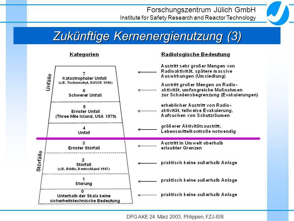 Zukünftige Kernenergienutzung (3)