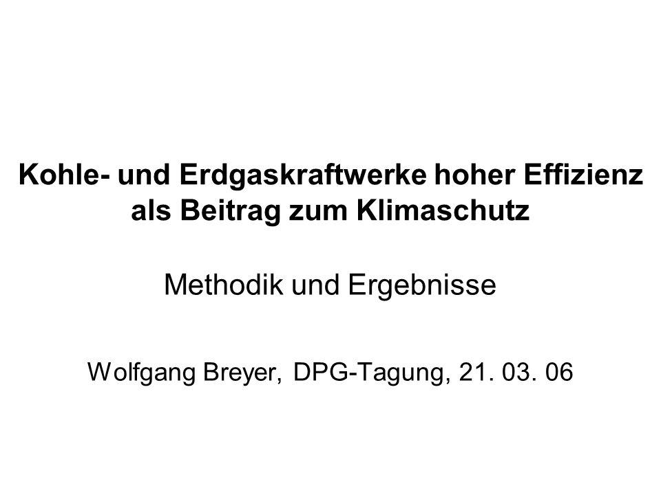 Methodik und Ergebnisse Wolfgang Breyer, DPG-Tagung, 21. 03. 06