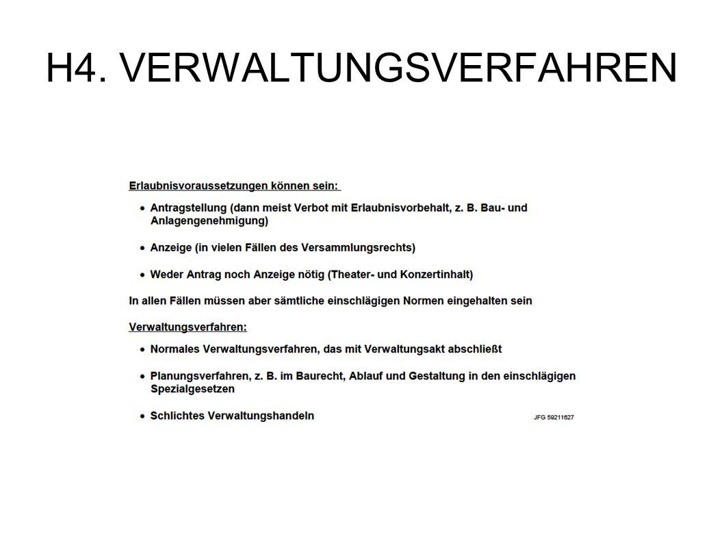 H4. VERWALTUNGSVERFAHREN
