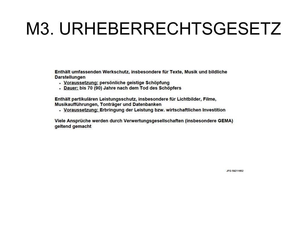 M3. URHEBERRECHTSGESETZ