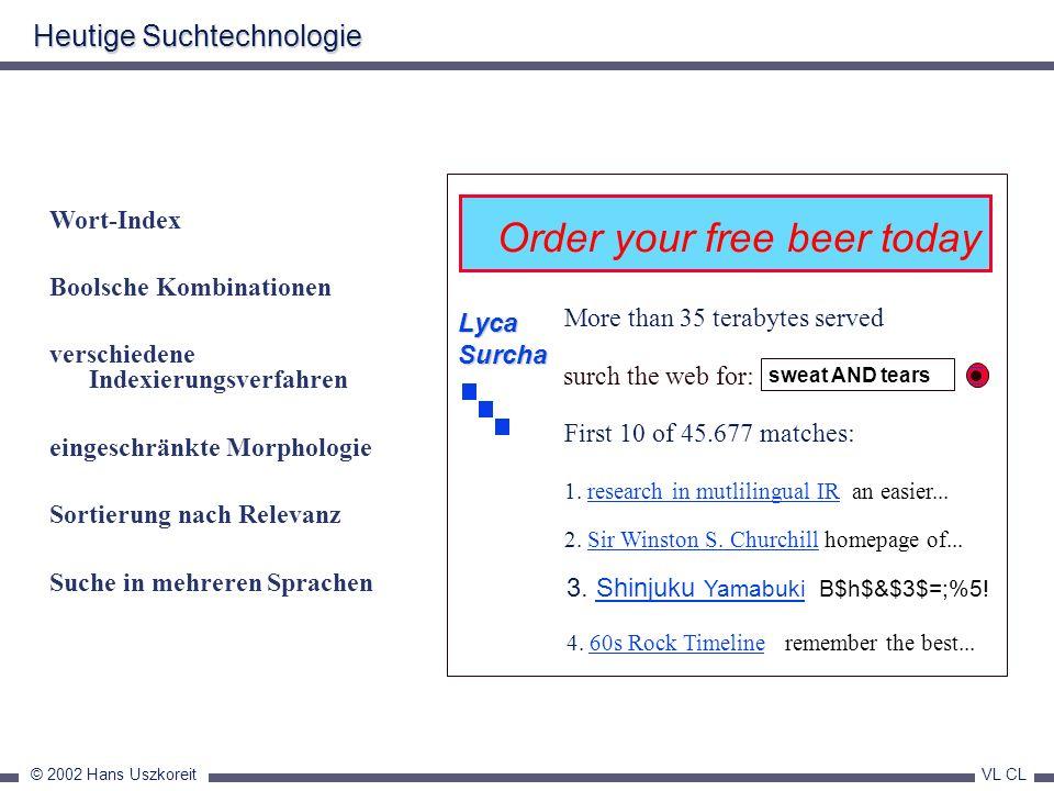 Heutige Suchtechnologie