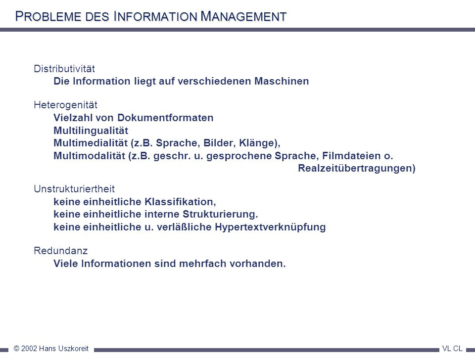 PROBLEME DES INFORMATION MANAGEMENT