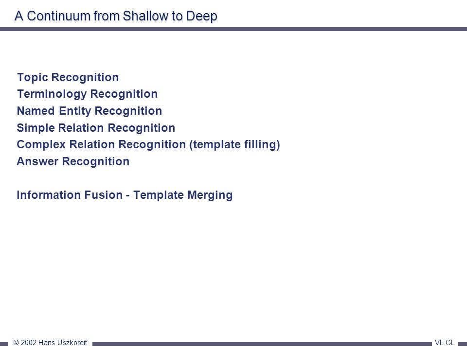 A Continuum from Shallow to Deep