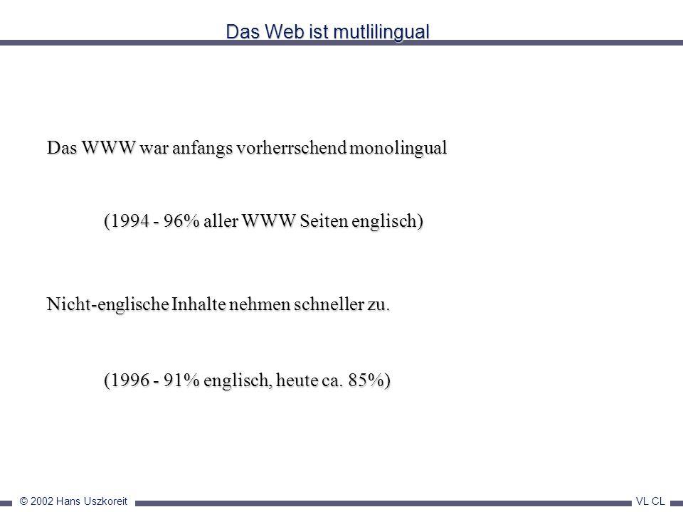 Das Web ist mutlilingual