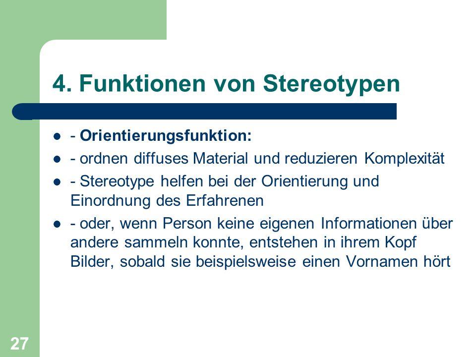 4. Funktionen von Stereotypen