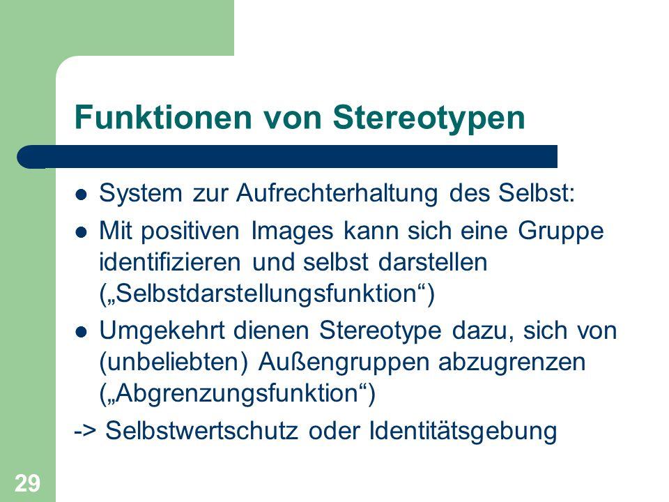 Funktionen von Stereotypen