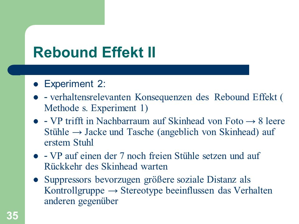 Rebound Effekt II Experiment 2: