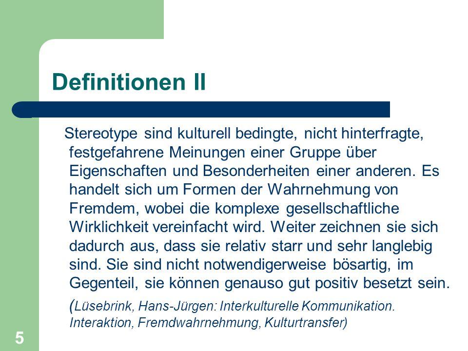 Definitionen II