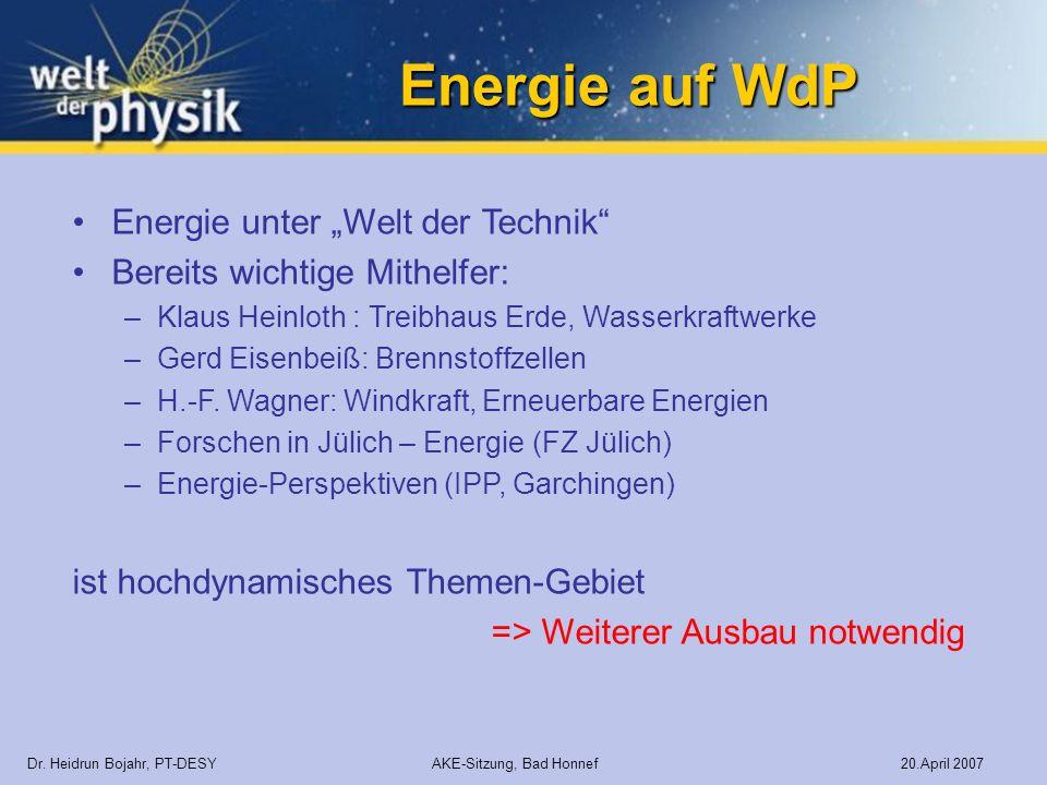 """Energie auf WdP Energie unter """"Welt der Technik"""