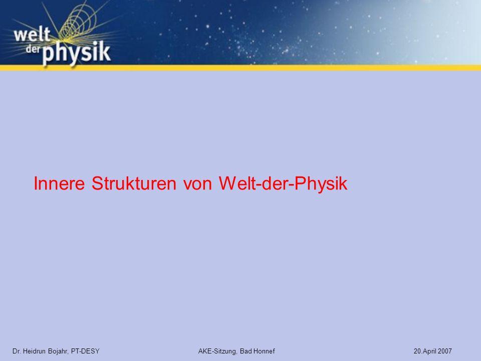 Innere Strukturen von Welt-der-Physik