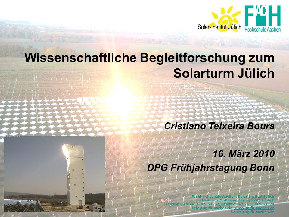 Wissenschaftliche Begleitforschung zum Solarturm Jülich
