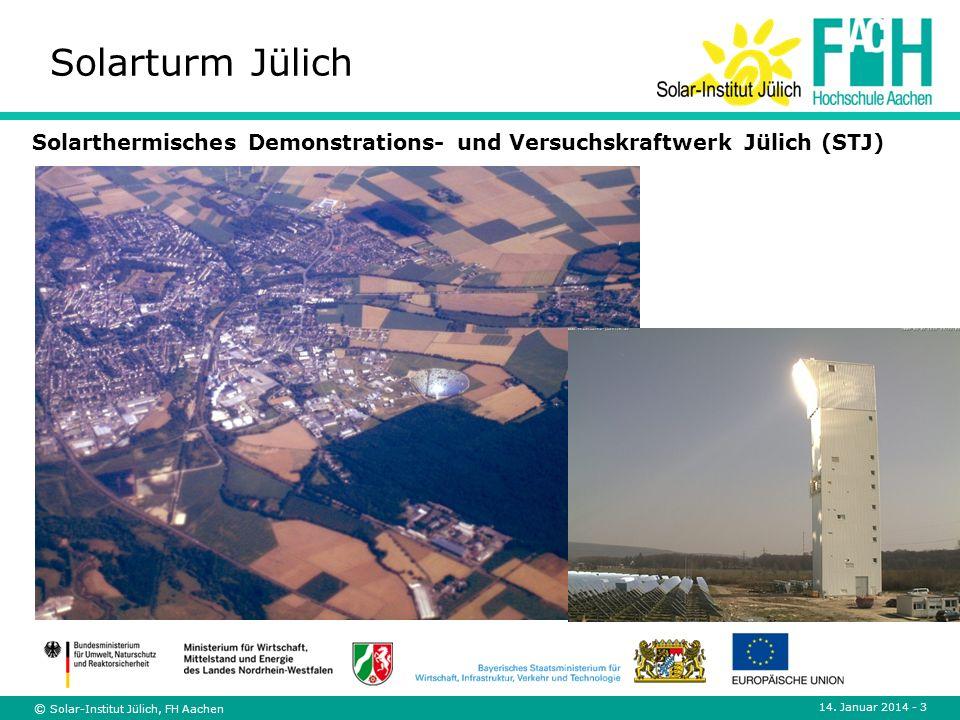Solarturm Jülich Solarthermisches Demonstrations- und Versuchskraftwerk Jülich (STJ) © Solar-Institut Jülich, FH Aachen.