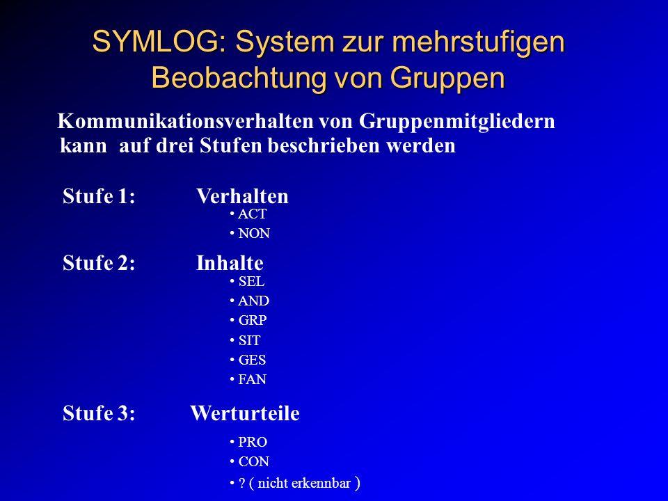 SYMLOG: System zur mehrstufigen Beobachtung von Gruppen