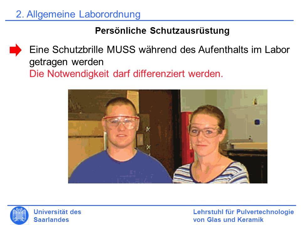 2. Allgemeine Laborordnung