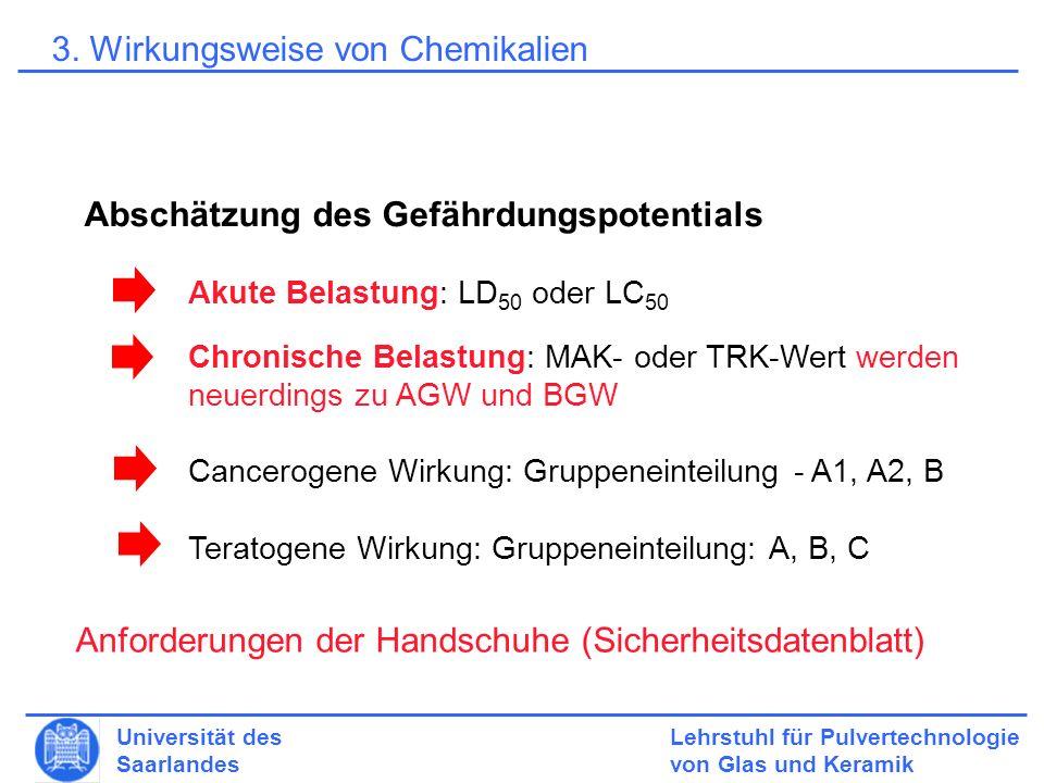 3. Wirkungsweise von Chemikalien