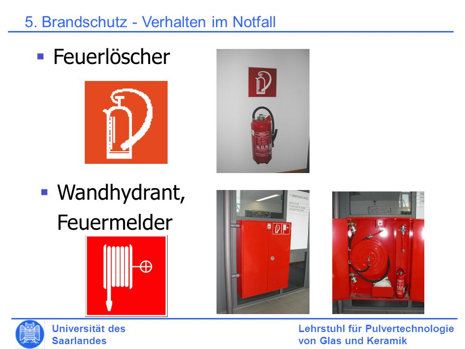 Wandhydrant, Feuermelder