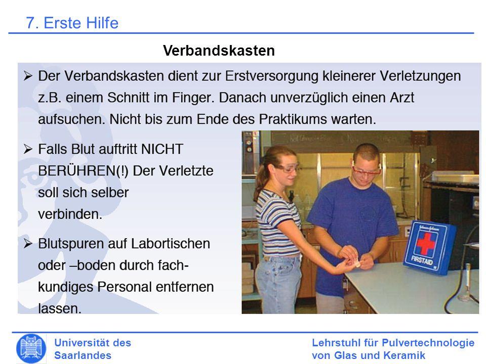 7. Erste Hilfe Verbandskasten