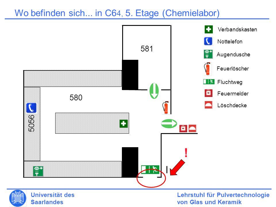 ! Wo befinden sich... in C64, 5. Etage (Chemielabor) 581 580 5056
