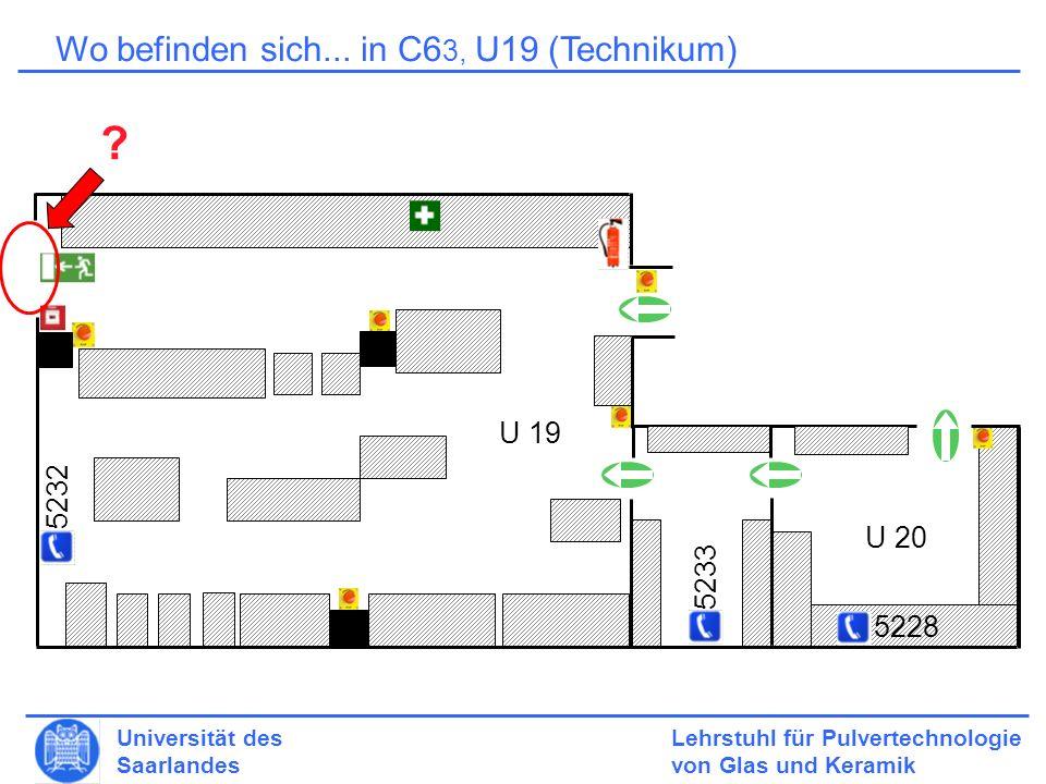 Wo befinden sich... in C63, U19 (Technikum) U 19 5232 U 20 5233 5228