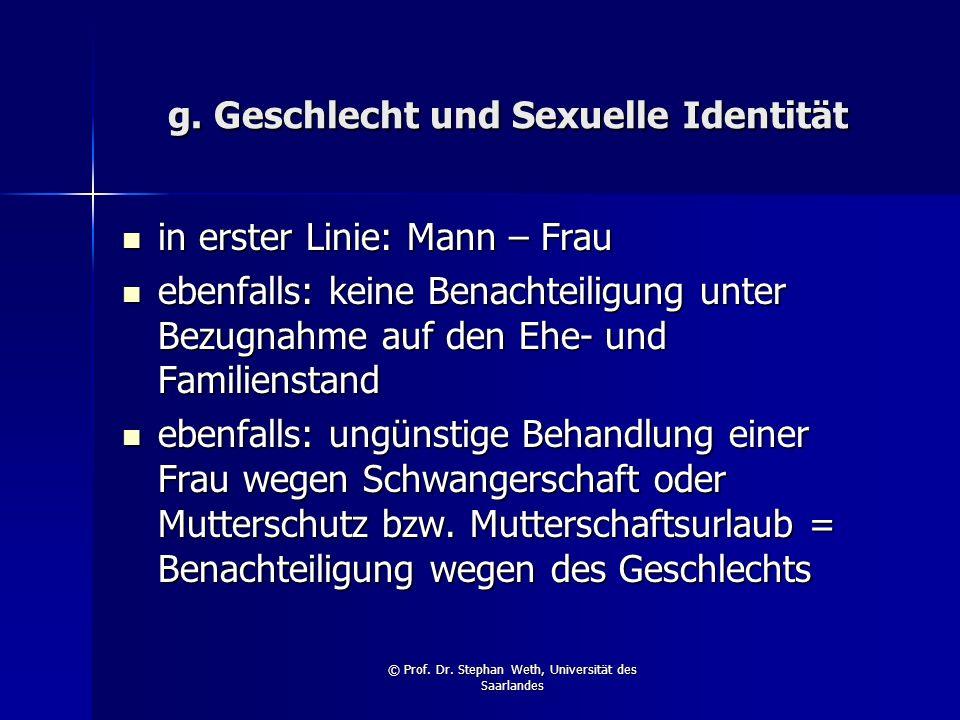 g. Geschlecht und Sexuelle Identität