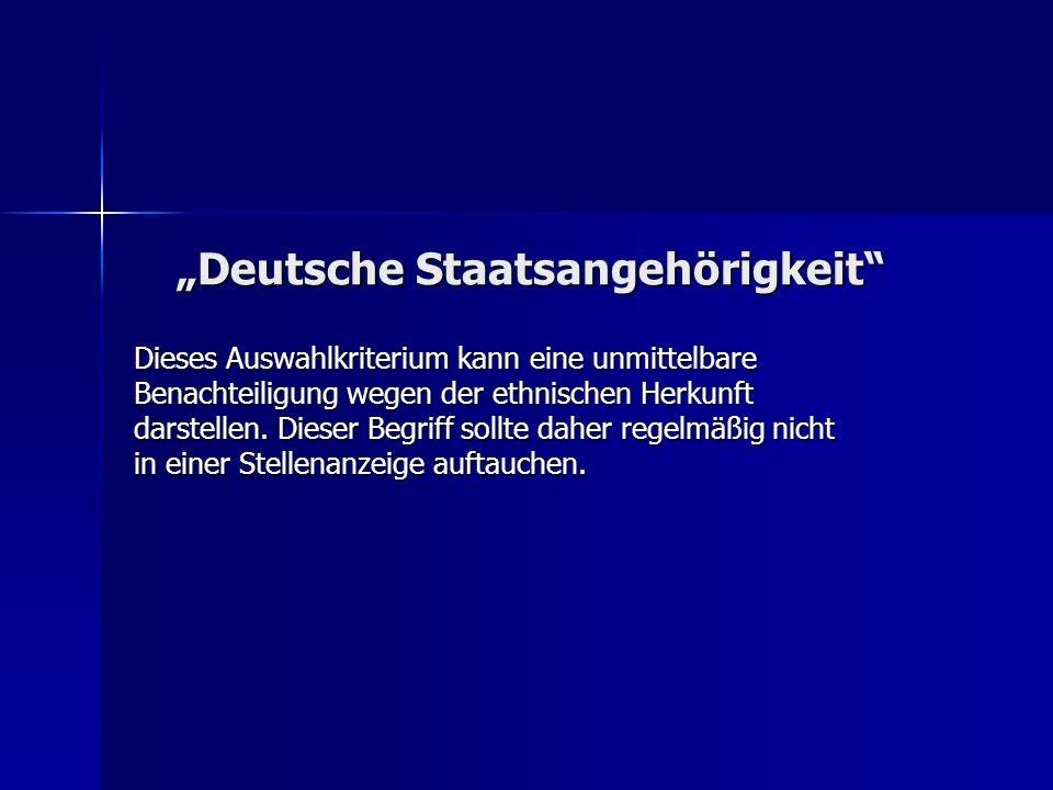"""""""Deutsche Staatsangehörigkeit"""