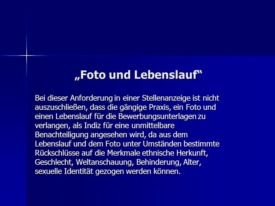 """""""Foto und Lebenslauf"""
