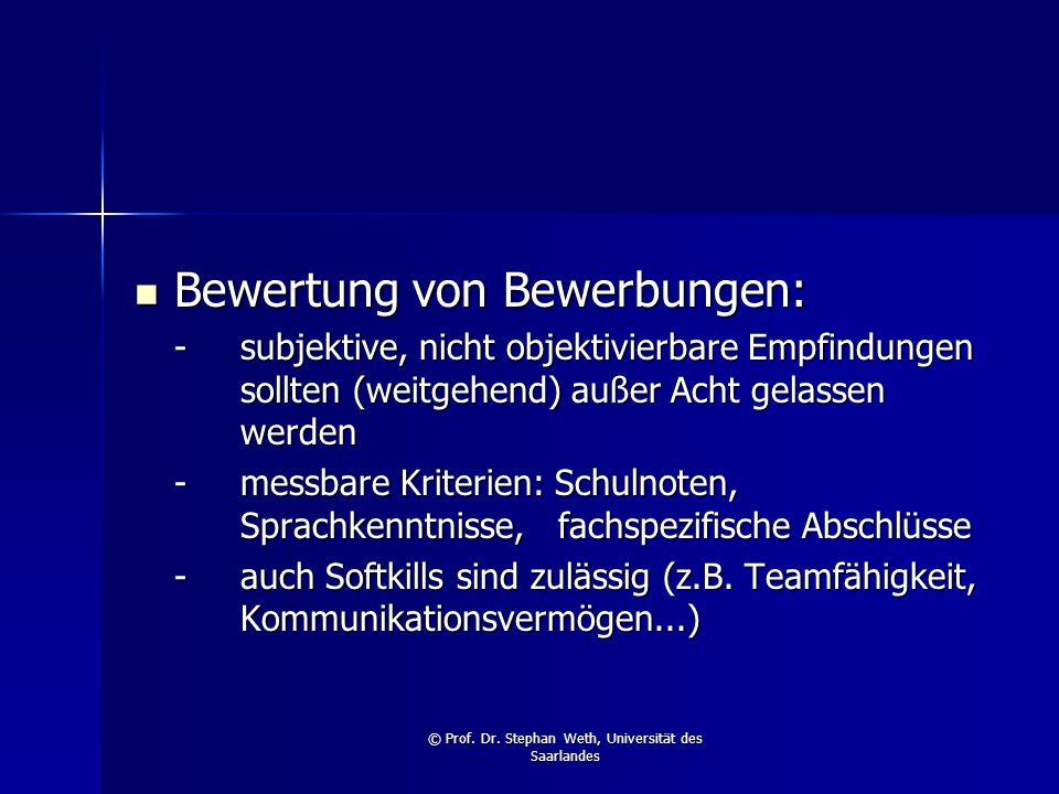 © Prof. Dr. Stephan Weth, Universität des Saarlandes