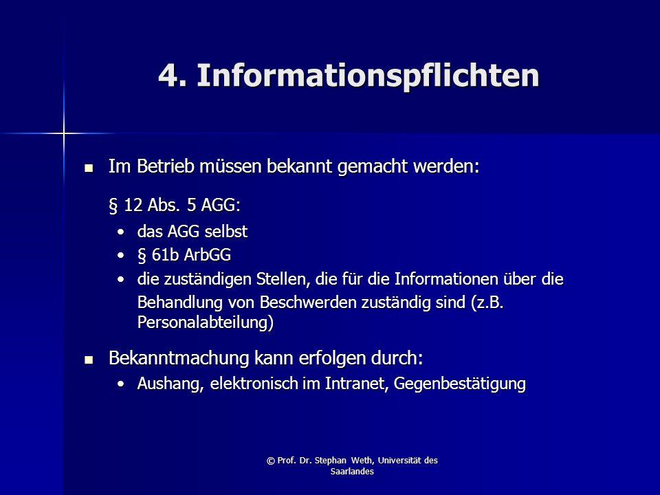 4. Informationspflichten