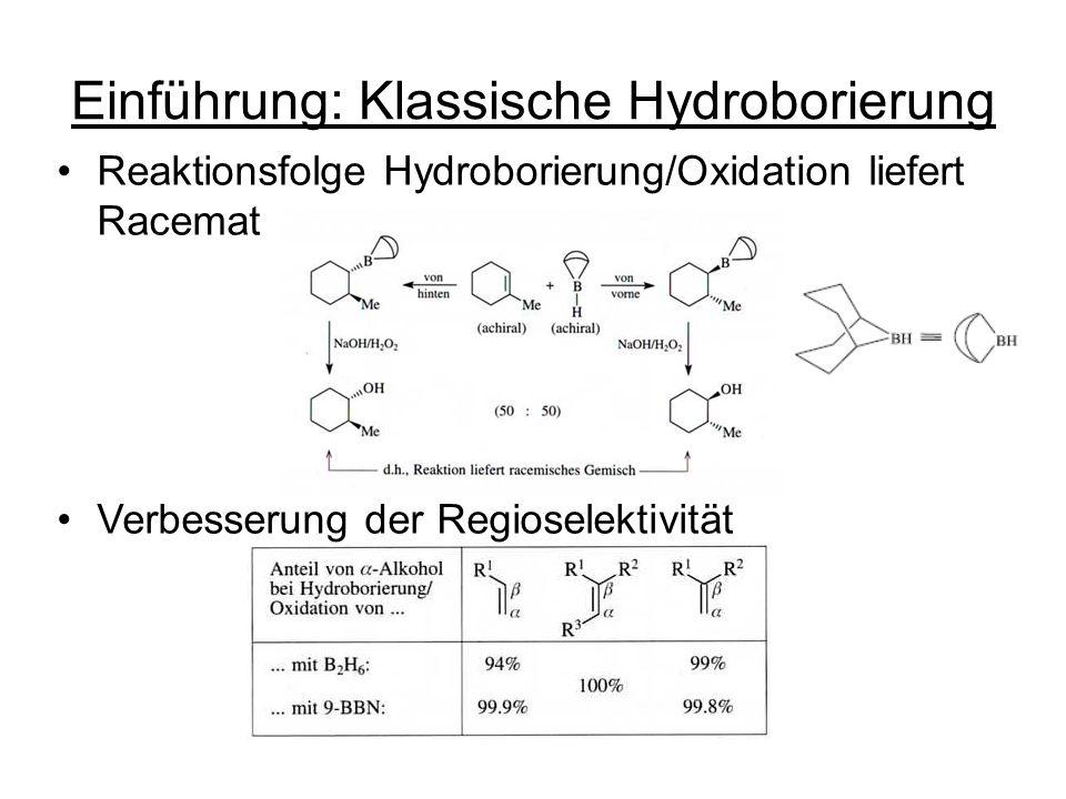 Einführung: Klassische Hydroborierung
