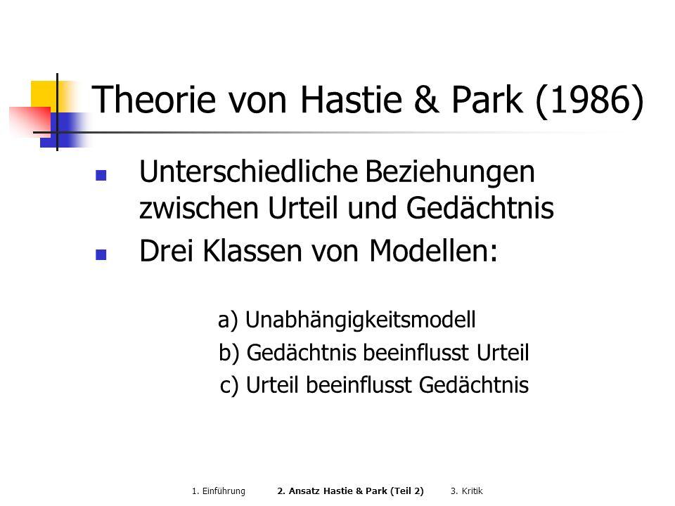 Theorie von Hastie & Park (1986)