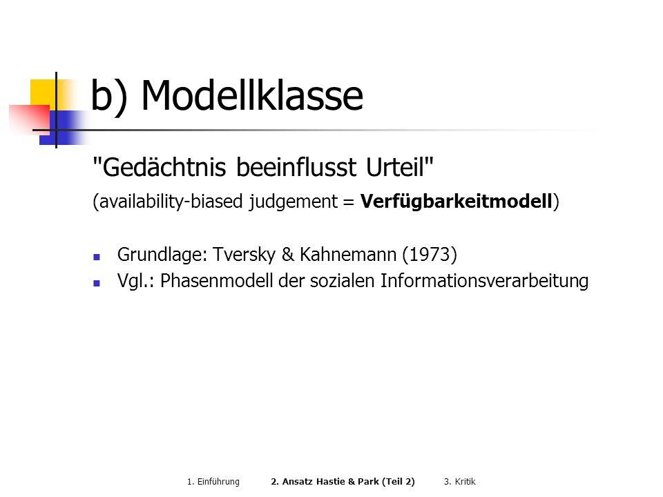 1. Einführung 2. Ansatz Hastie & Park (Teil 2) 3. Kritik