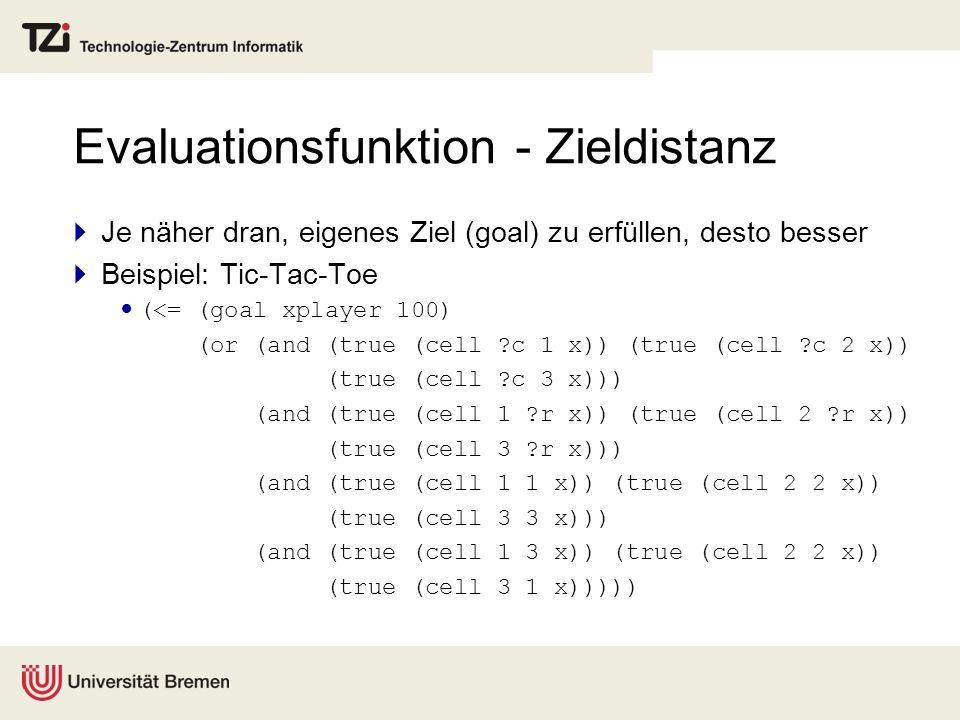 Evaluationsfunktion - Zieldistanz