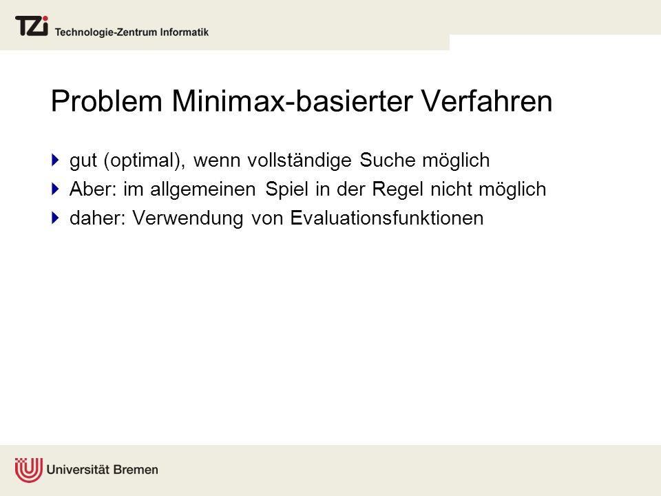 Problem Minimax-basierter Verfahren