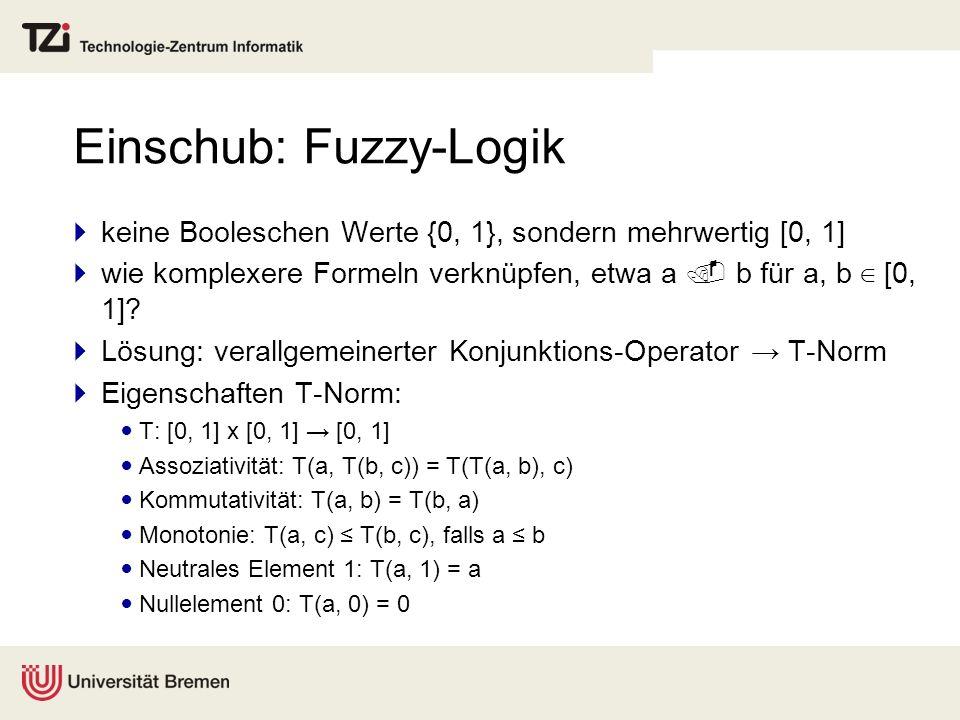 Einschub: Fuzzy-Logik