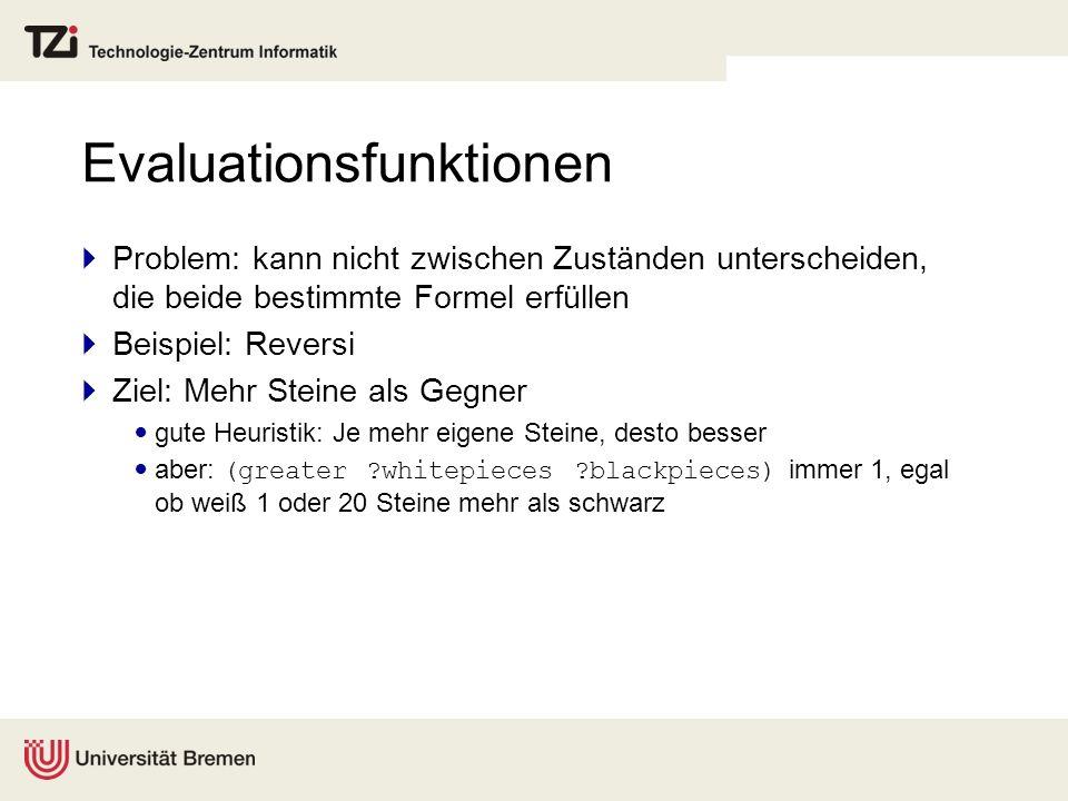 Evaluationsfunktionen