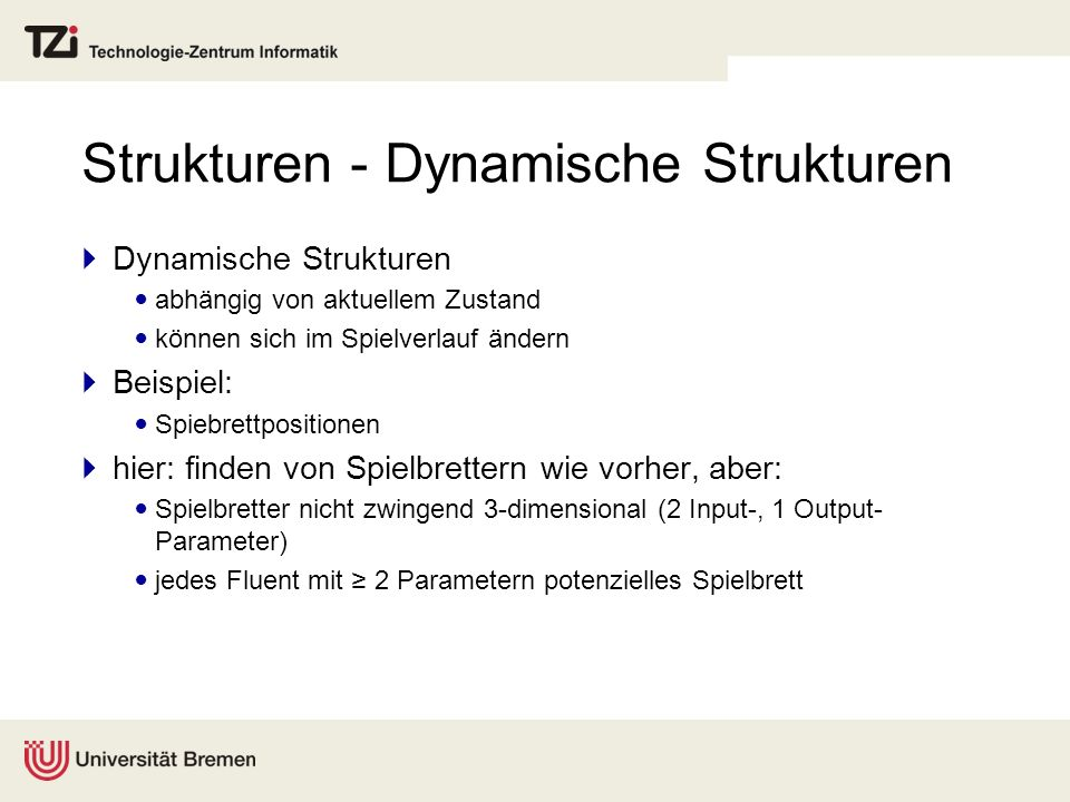 Strukturen - Dynamische Strukturen