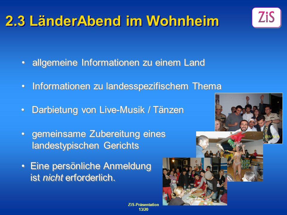 2.3 LänderAbend im Wohnheim