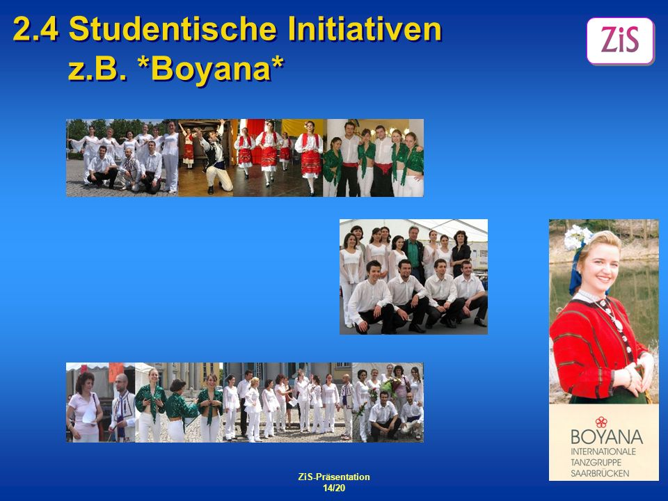 2.4 Studentische Initiativen z.B. *Boyana*