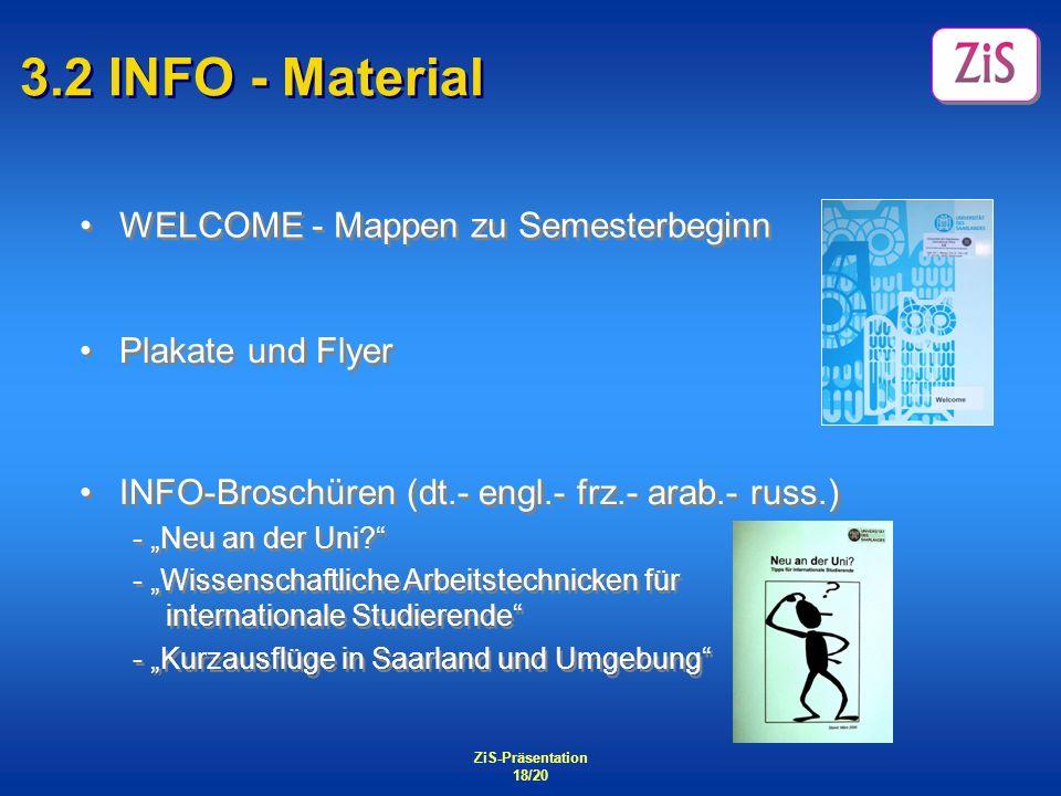 3.2 INFO - Material WELCOME - Mappen zu Semesterbeginn